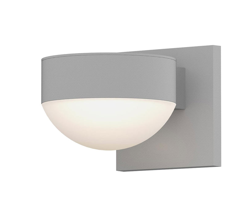 Reals Plate/Dome Outdoor Wall Sconce - Textured White