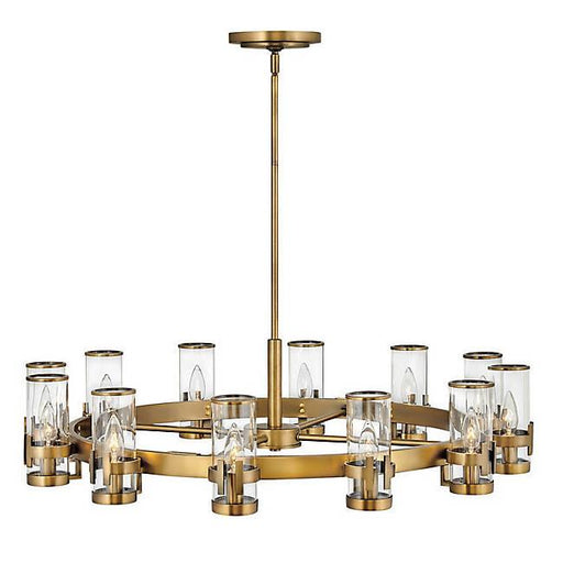 Reeve Large Chandelier - Heritage Brass Finish