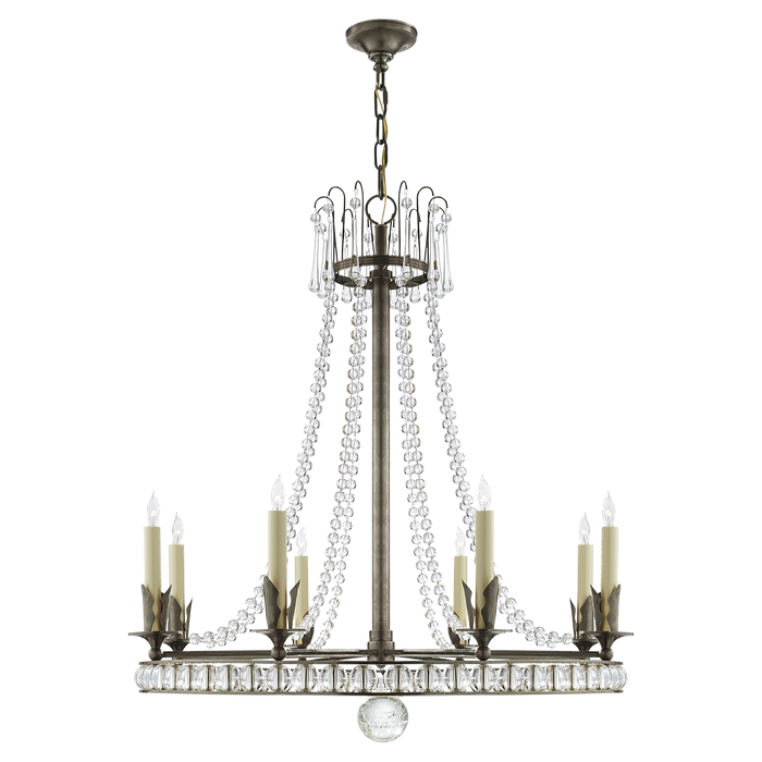 Regency Large Chandelier - Sheffield Nickel Finish