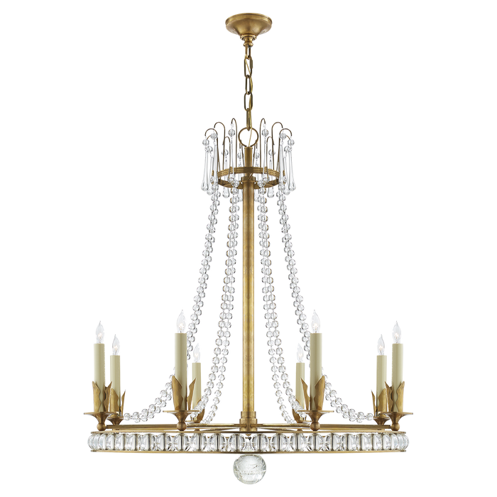 Regency Large Chandelier - Hand-Rubbed Antique Brass Finish