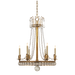 Regency Medium Chandelier - Hand Rubbed Antique Brass Finish