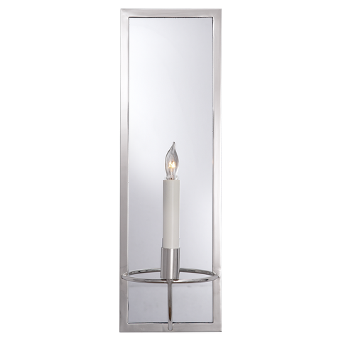 Regent Rectangular Sconce Polished Nickel