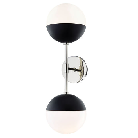 Renee 2-Light Wall Sconce - Polished Nickel