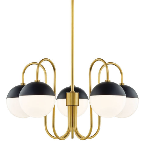 Renee Chandelier - Aged Brass