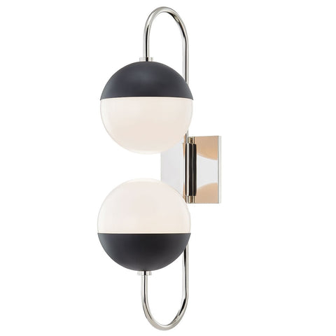 Renee Curved Wall Sconce - Polished Nickel