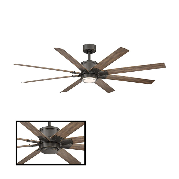 "Renegade 52"" LED Smart Ceiling Fan - Oiled Rubbed Bronze Finish with Barn Wood Blades"