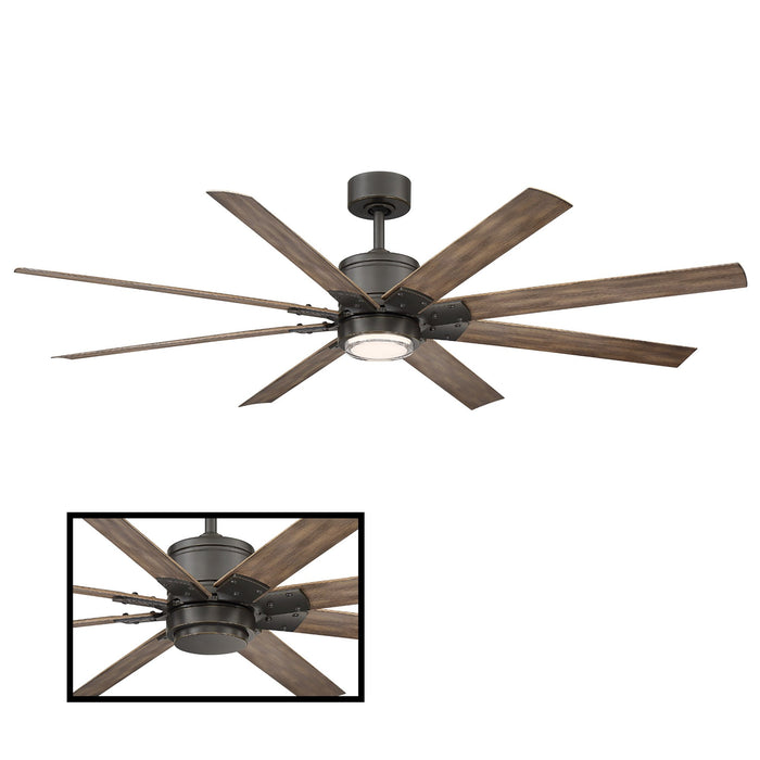 "Renegade 66"" LED Smart Ceiling Fan - Oiled Rubbed Bronze Finish with Barn Wood Blades"