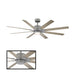 "Renegade 52"" LED Smart Ceiling Fan - Graphite Finish with Weathered Gray Blades"