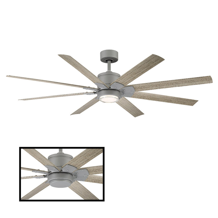 "Renegade 66"" LED Smart Ceiling Fan - Graphite Finish with Weathered Gray Blades"