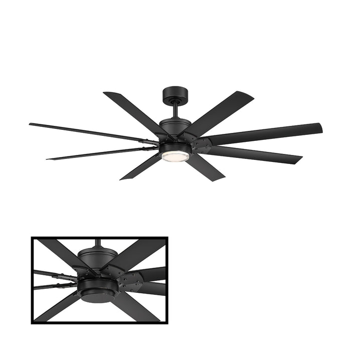 "Renegade 52"" LED Smart Ceiling Fan - Matte Black Finish"