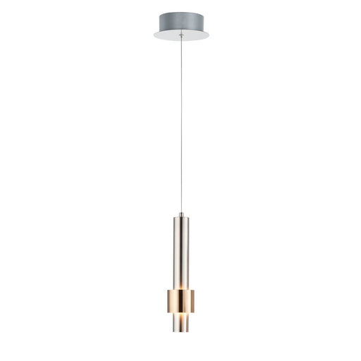 Reveal Pendant - Satin Nickel/Stain Brass Finish