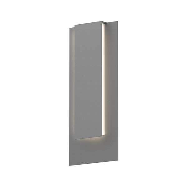Reveal Tall Outdoor LED Wall Sconce - Textured Gray