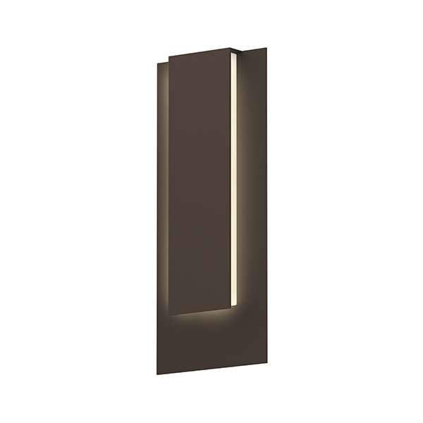 Reveal Tall Outdoor LED Wall Sconce - Textured Bronze