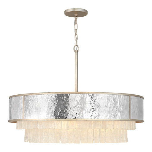 Reverie Large Chandelier - Hammered Stainless Steel/Champagne Gold Finish