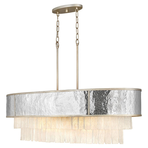 Reverie Linear Suspension - Hammered Stainless Steel/Champagne Gold Finish