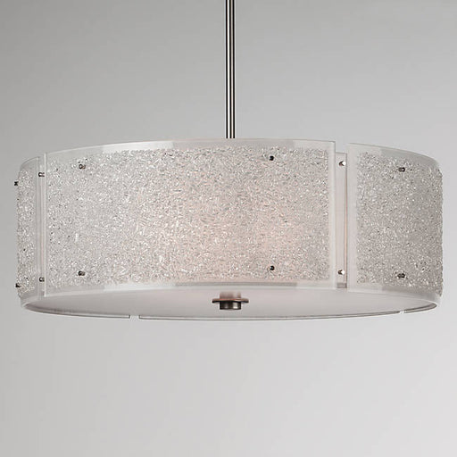 Rimelight Drum Pendant - Frosted