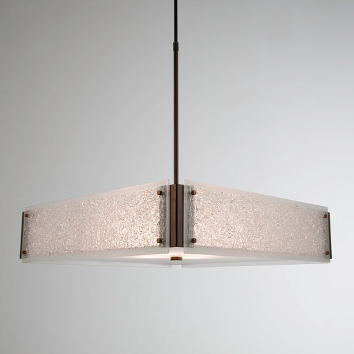 Rimelight Square Chandelier - Flat Bronze/Frosted