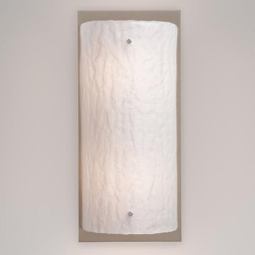 Rimelight Small Wall Sconce - Satin Nickel Finish Frosted Glass