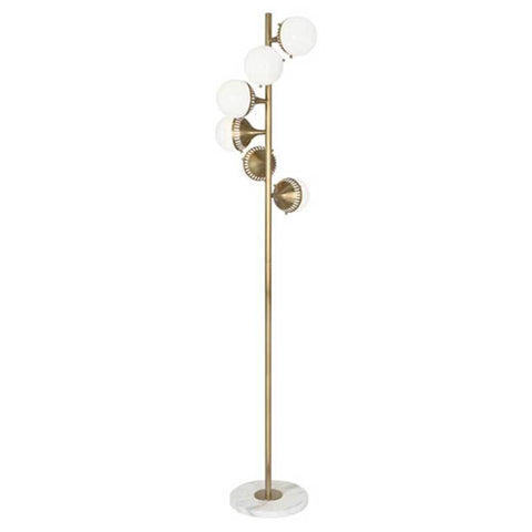 Rio Floor Lamp - Antique Brass