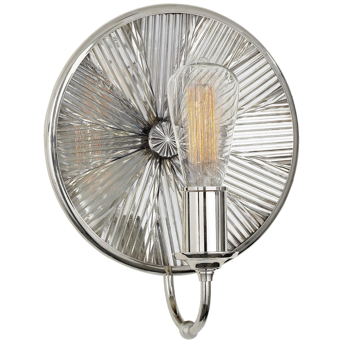 Rivington Small Round Sconce - Polished Nickel