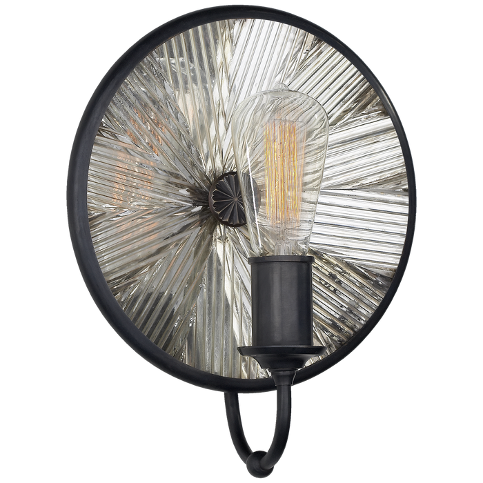 Rivington Small Round Sconce - Bronze