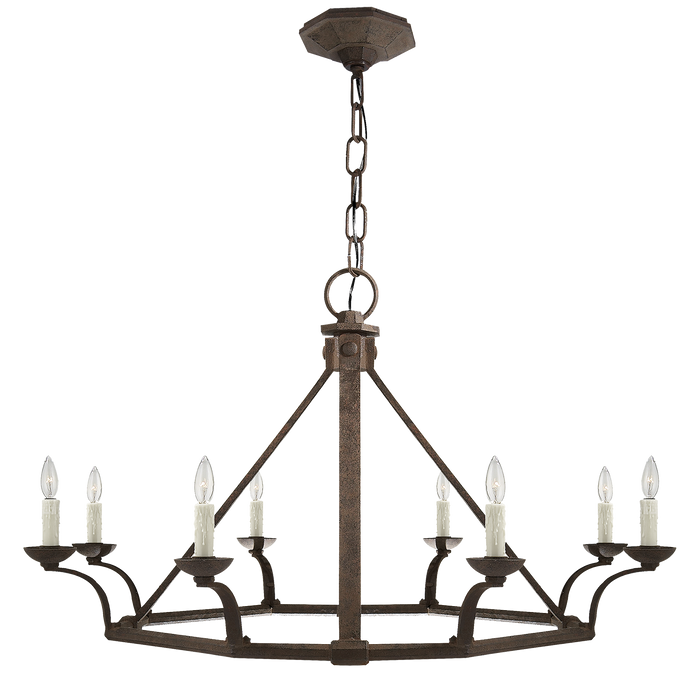 Robertson Single Tier Chandelier - Natural Rust