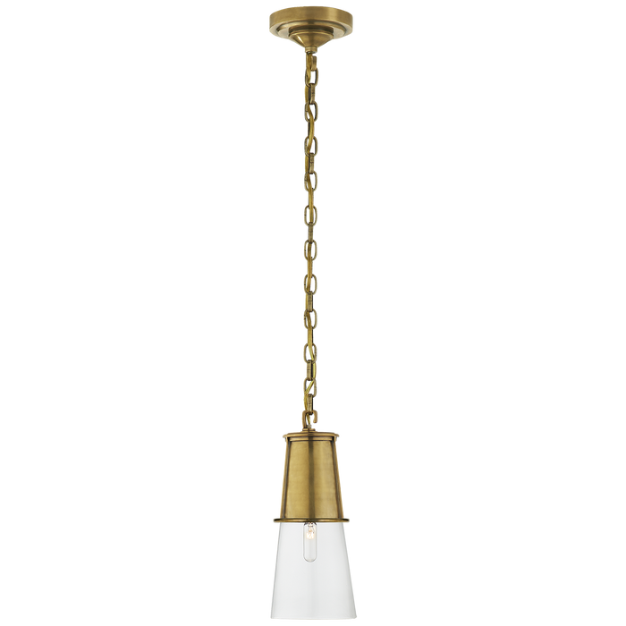 Robinson Small Pendant Hand-Rubbed Antique Brass