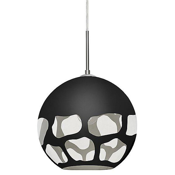 Rocky Pendant Light Black/Satin Nickel