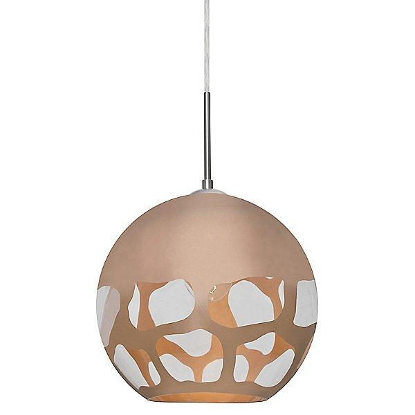 Rocky Pendant Light Copper/Satin Nickel