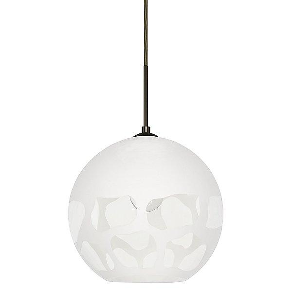 Rocky Pendant Light White/Bronze