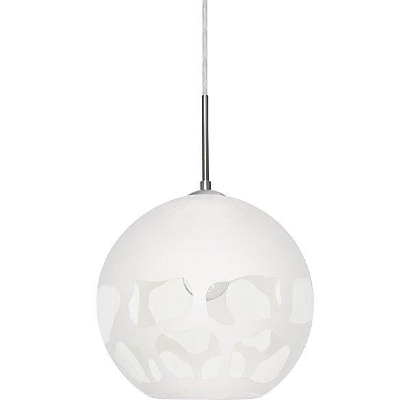 Rocky Pendant Light White/Satin Nickel