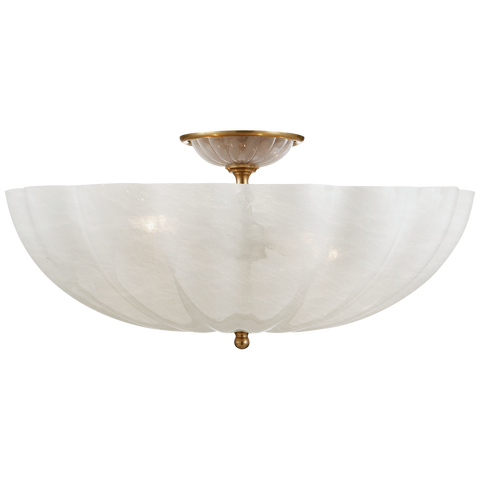 Rosehill Large Semi-Flush Mount - Hand-Rubbed Antique Brass