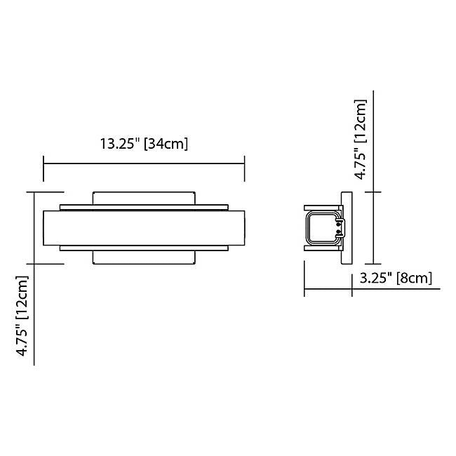 "Rowan 13"" LED Wall Sconce - Diagram"