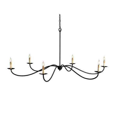 SAXON CHANDELIER Black