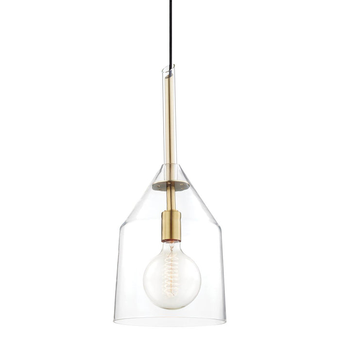 Sloan Large Pendant - Aged Brass