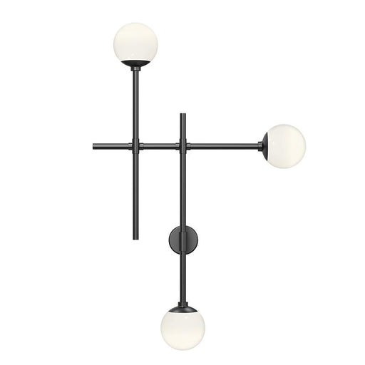 Sabon LED 3 Light Wall Sconce - Satin Black Finish