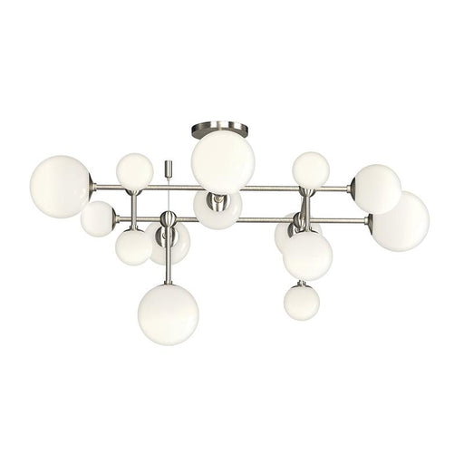 Sabon Semi Flush Mount - Satin Nickel Finish