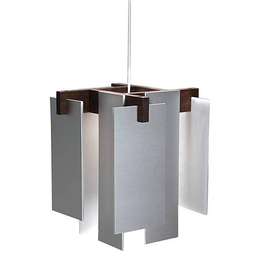 Salix LED Accent Pendant - Brushed Aluminum / Oiled Walnut