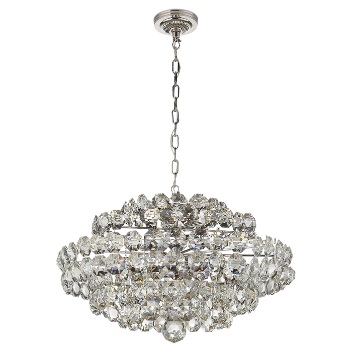 Sanger Small Chandelier - Polished Nickel