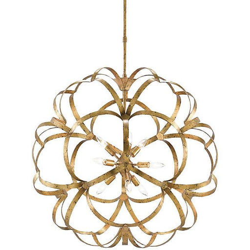 Sappho 9-Light Orb Chandelier - Gold Leaf