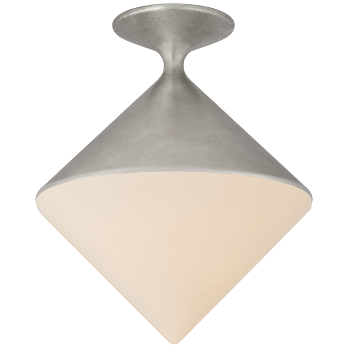 Sarnen Small Flush Mount - Burnished Silver Leaf Finish