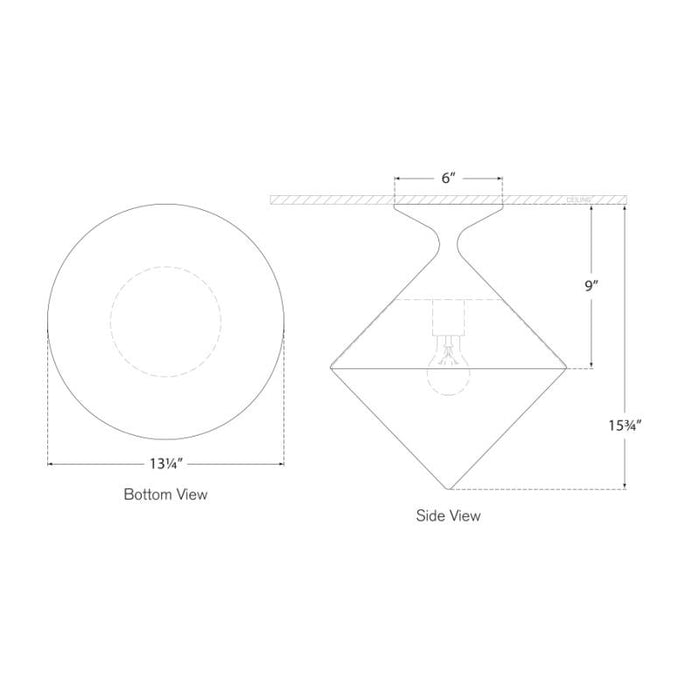 Sarnen Small Flush Mount - Diagram