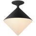 Sarnen Small Flush Mount - Matte Black Finish