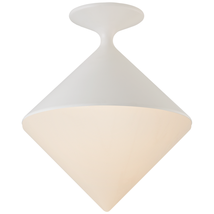 Sarnen Small Flush Mount - Matte White Finish