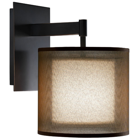 Saturnia Wall Sconce Deep Patina Bronze