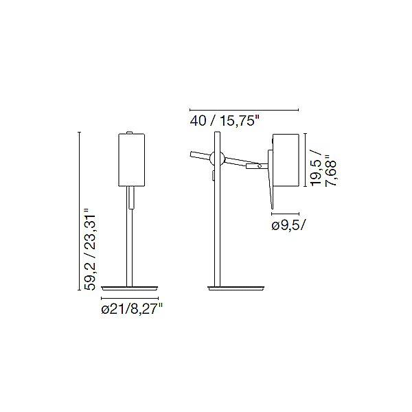 Scantling Table Lamp - Diagram