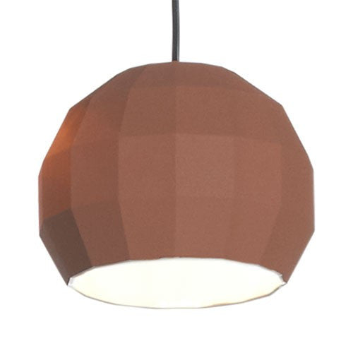 Scotch Club 41 Pendant Light - Terracotta/White Finish