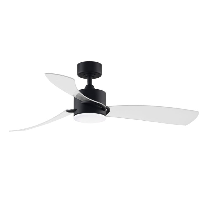 SculptAire LED Ceiling Fan - Black Finish with Clear Blades