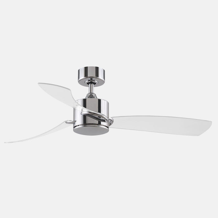 SculptAire LED Ceiling Fan - Chrome Finish with Clear Blades
