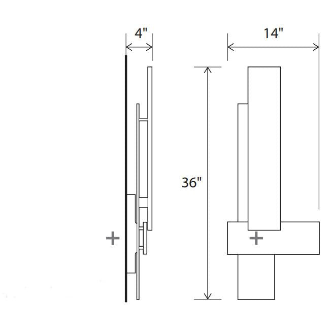 Sedo LED Sconce - Diagram